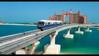 DUBAI MONORAIL Ride   DRIVERLESS Train!!   The Best View of PALM ISLAND 🏝 🔥🔥🔥