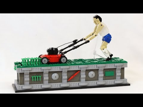 LEGO Lawnmower Man Kinetic Sculpture