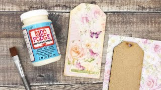 How To Mod Podge A Wooden Gift Tag | Easy MDF Make | CraftStash