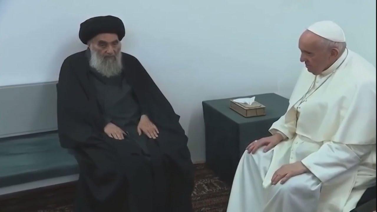 Ιράκ: Ιστορική συνάντηση του Φραγκίσκου με τον κορυφαίο ιερωμένο του σιιτικού Ισλάμ