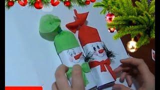 Новогодние Подарки Детские Поделки Своими Руками/ шоколадка - снеговик Мастер Класс