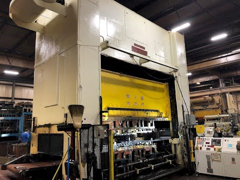 600 ton Bliss SE2-600-144-60 Straight Side Press, New 1996