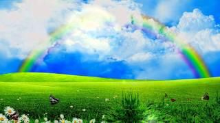 футаж облака природа радуга