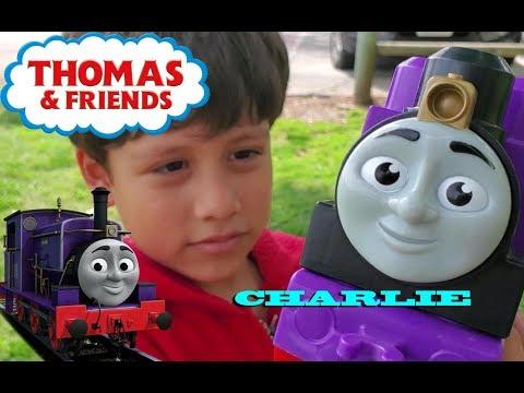 Thomas and Friend Charlie the purple engine. Charlie the joker.