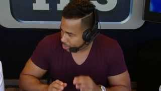Romeo Santos visits the Yankees broadcast booth