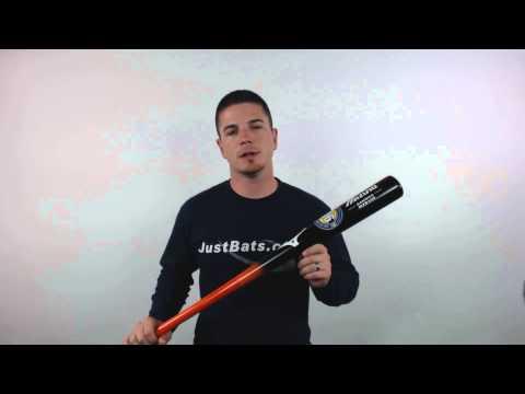 Mizuno Classic Bamboo Baseball Bat: MZB110 Black/Orange