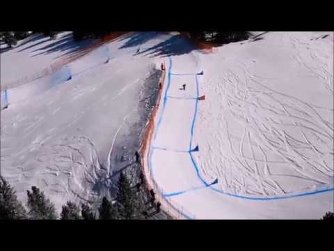 A drone's eye-view of Maxwell's boardercross time trial at the USASA Nationals, 3 April 2018