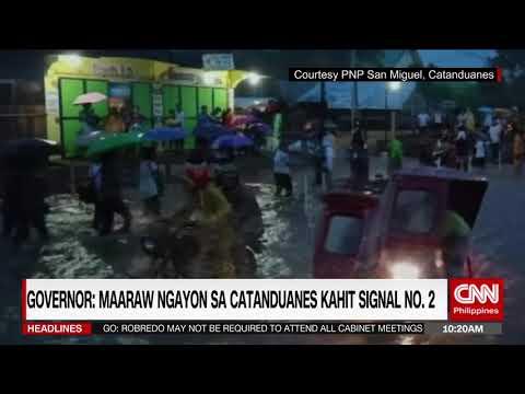Singal no.2 nakataas sa Catanduanes