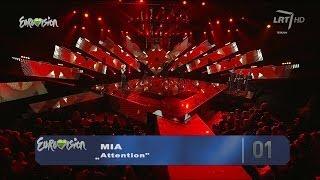 """Vilija Pilibaitytė - Mia """"Attention"""" @ """"Eurovizija 2014"""" (tiesiogiai)"""