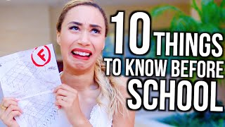 10 Things To Know Before Going BACK TO SCHOOL! | MyLifeAsEva