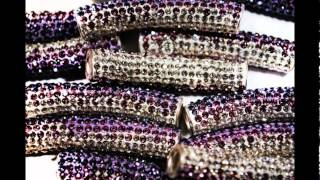Jewelry Making Supplies-Shamballa Crystal Tubes