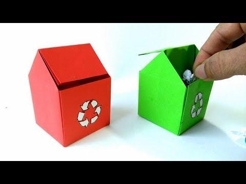 Contenedor de basura de papel - Origami Trash Bin