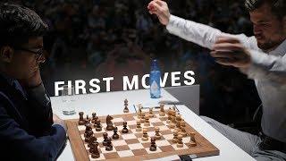 Carlsen vs Anand   World Champion Battle   First Moves GRENKE Chess Classic 2019