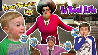 Scary Teacher 3D In Real Life Horror Game (Kids Skit) with 5 Surprise Balls