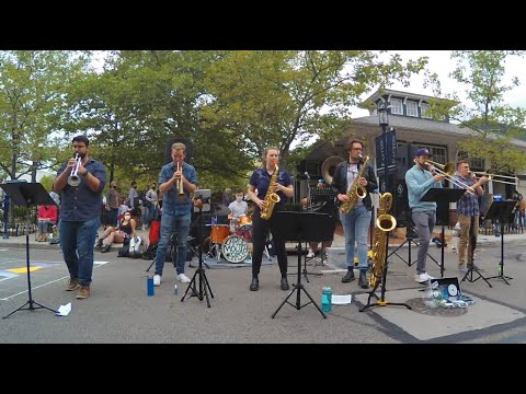 Performing with Largemouth Brass Band