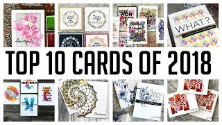 Top 10 Most Watched Card Tutorials Of 2018!
