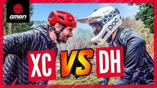 Cross Country Mountain Bike Vs Downhill Bike | Blake & Rich Go Head To Head