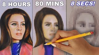 Drawing The Same Thing In 8 Hours, 80 Minutes & 8 Seconds! (i Think I Did Good!!)