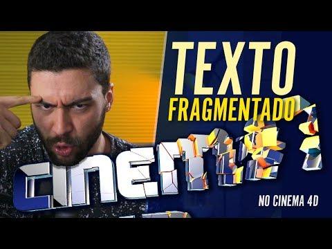 Como fazer TEXTO FRAGMENTADO | Tutorial Cinema 4D