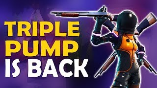 TRIPLE PUMP IS BACK   DOUBLE PUMP   NEW UPDATE & SHOTGUN MECHANICS - (Fortnite Battle Royale)