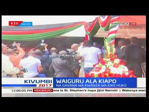 Naibu wa rais, William Ruto awasili Kirinyaga kushuhudia uapishwaji wa Anne Waiguru