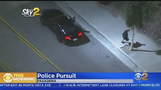 Driver Escapes Into Wash After Leading Police Pursuit Through San Gabriel Valley