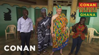 Conan & Sam Richardson Meet Ashanti Royalty - CONAN on TBS
