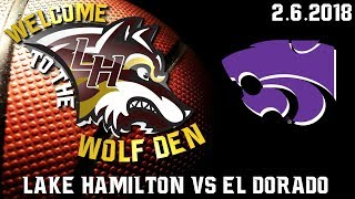 Lake Hamilton Wolves vs El Dorado Wildcats Varsity Basketball | February 6, 2018