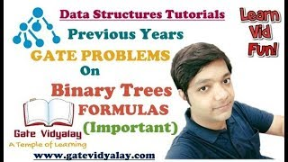 Previous Years GATE Problems on Binary Tree Formulas | Important
