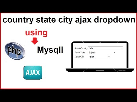 country state city ajax,mysqli,php dropdown example