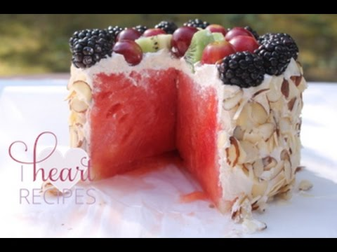 Video Fresh Watermelon Cake - I Heart Recipes