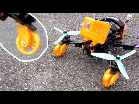 quadcopter-skateboard-rollen-testen--halde-fliegen-ohne-rollen--fpv-german-deutsch