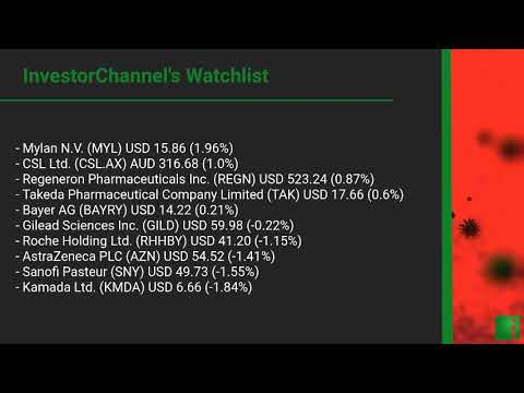 InvestorChannel's Covid-19 Watchlist Update for Monday, No ... Thumbnail