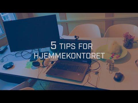 Få en bedre arbeidshverdag med sjefforsker Nils Brede Moes fem tips for hjemmekontoret.