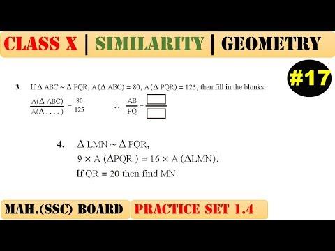 Similarity [Part 17] | Class 10 | Practice set 1.4 (MATHS 2) | Mah. (SSC) Board | Q3 and Q4