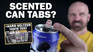 """Testing """"Tasty Tabs"""" Scented Can Stickers plus Hard Seltzer Comparison!"""