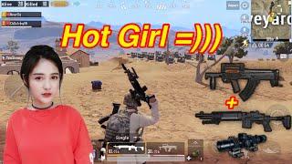 PUBG Mobile | Duo Cùng Hot Girl || Auto Headshot vs MK14 8X Scope √