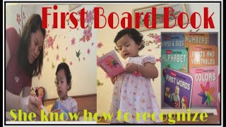 FIRST BOARD BOOK FOR BABY SHIKA|HAPPY WHILE LOOKING AT PAGES