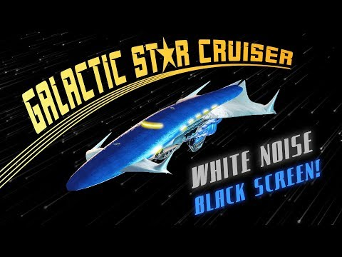 Galactic Star Cruiser BLACK SCREEN | Space Sounds White Noise for Sleeping 10 Hours