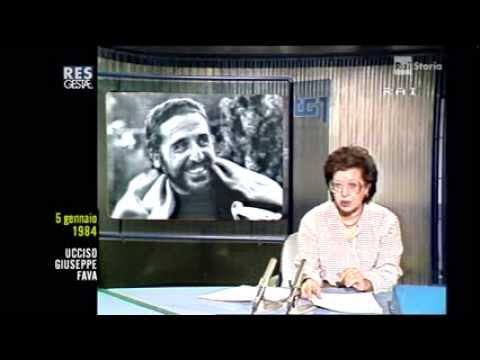 CATANIA 5 GENNAIO 1984- UCCISIONE DI G.FAVA