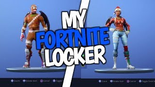 My all Fortnite locker 100+skins (GREEK)