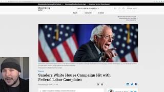 Bernie Sanders Labor Scandal Escalates, Hit With Federal Labor Complaint