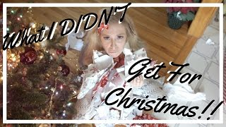 What I Didn't Get For Christmas 2016 | S&PVlogs