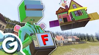 We DESTROY The UP House and Free TV Guy EXPLODES?! | Garry's Mod Gameplay