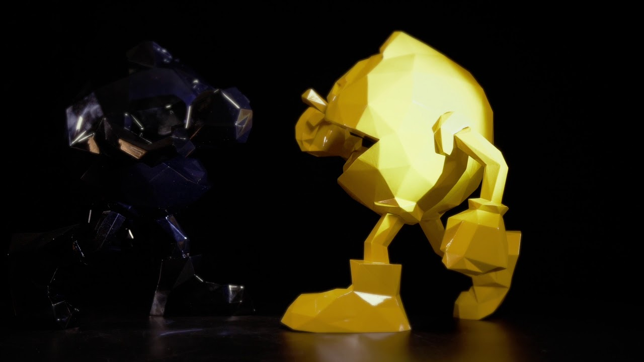 PAC-MAN x Orlinski : La sculpture officielle - Jaune video 1