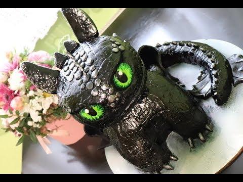 Мастер-класс создания торта в форме дракона Беззубика