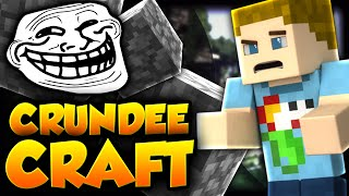 Minecraft: THE GIANT COBBLE TROLL | CRUNDEE CRAFT