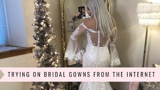 TRYING ON INTERNET WEDDING GOWNS  + Why I Left Bridal