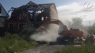 В Плеханово сносят незаконные постройки цыган