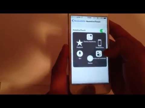 Screenshot iPhone 6 come fare foto schermo con iOS8 e assistive Touch